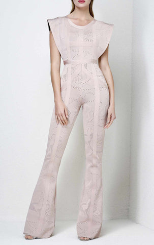The Believer Blush Bandage Jumpsuit for $1.98 at Posh Girl