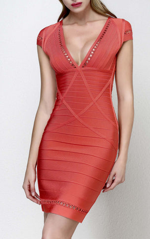 Avery V-Neck  Bandage Dress for $1.88 at Posh Girl
