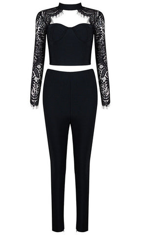 Roslyn Lace And Bandage Pants Suit for $1.78 at Posh Girl