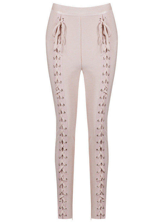 High waist Lace Up Bandage Pants for $1.48 at Posh Girl