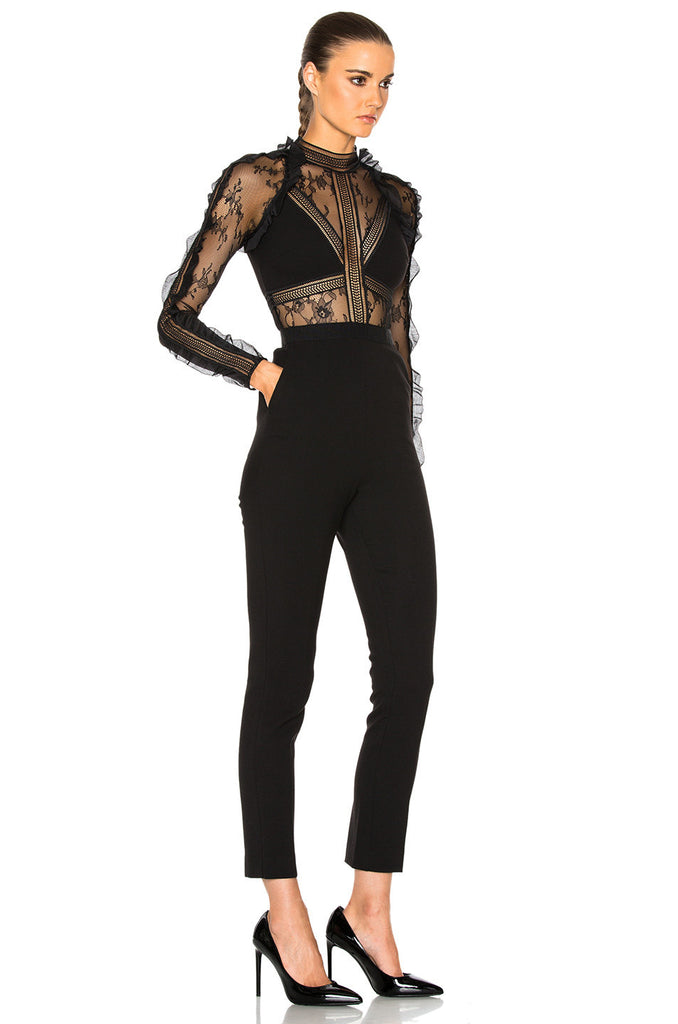 Black Embroidered Lace Jumpsuit for $1.74 at Posh Girl
