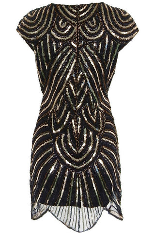 Black Gatsby Sequins Mini Dress for $1.88 at Posh Girl