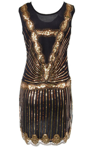 Black And Gold Sequins Mini Dress for $1.88 at Posh Girl