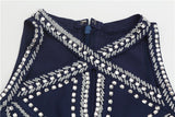 Apparel - Posh Girl Beaded Peplum Bandage Top