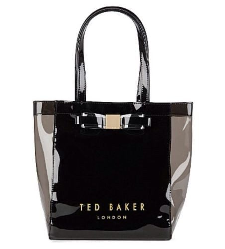 TED BAKER London Bow Icon Small Shopper Bag Black-TED BAKER-Posh Girl
