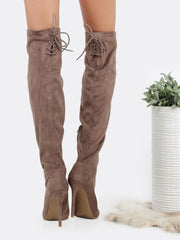 Suede Over The Knee High Stiletto High Boots for $1.08 at Posh Girl