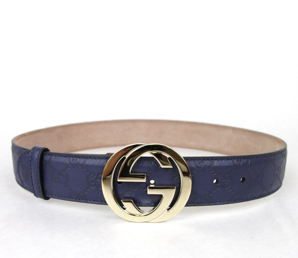 GUCCI Belt w/Interlocking G Buckle Purple-GUCCI-Posh Girl