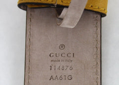GUCCI Belt w/Interlocking G Buckle Yellow for $3.88 at Posh Girl