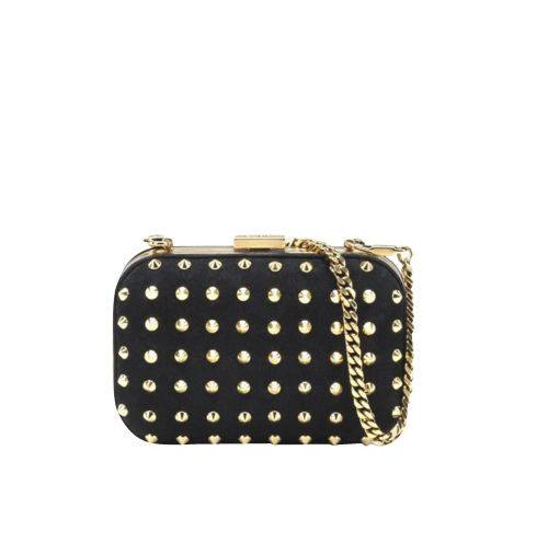 Broadway Leather Studded Evening Clutch-GUCCI-Posh Girl