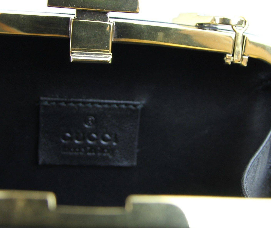 Brands,Accessories,GUCCI - Gucci Broadway Leather Studded Evening Bag Clutch Black