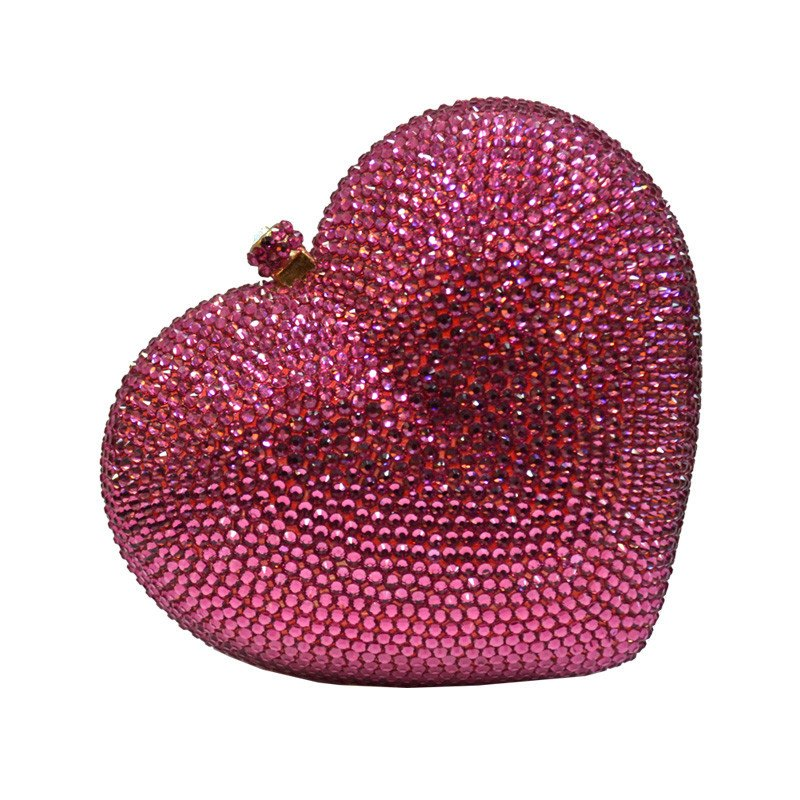 Brands,Accessories,New - POSH GIRL Pink I Heart You Rhinestone Clutch Bag