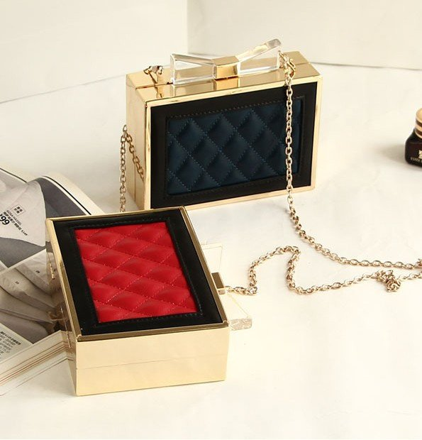 Brands,Accessories - Posh Girl Quilted  Leather Bow Top Handbag Clutch