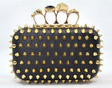 Posh Girl  Spiked Studded Ring Clutch Handbag
