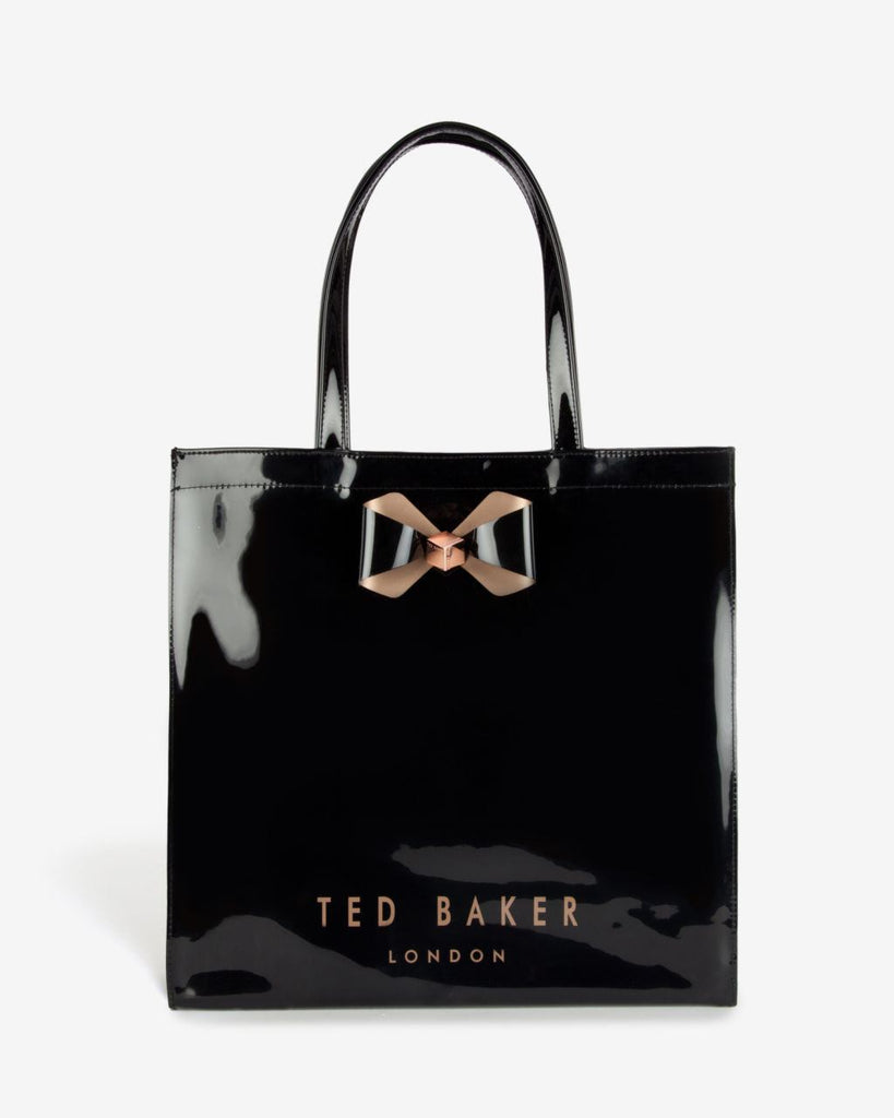 TED BAKER  Bowicoin Black Icon Tote Bag-TED BAKER-Posh Girl