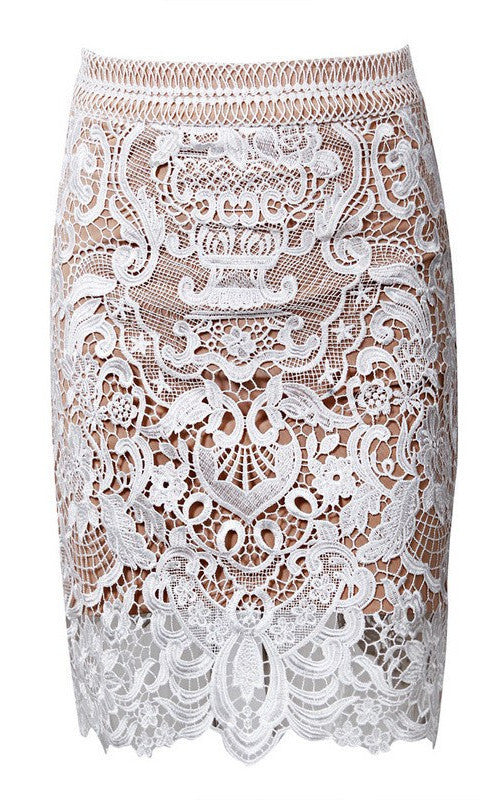 Posh Girl Embroidered Lace Mini Skirt-POSH GIRL-Posh Girl