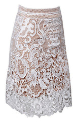 Posh Girl Embroidered Lace Mini Skirt for $0.88 at Posh Girl