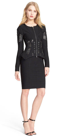 Brands,Apparel,New,Collections,Dresses - Posh Girl Rock On Studded Bandage Jacket