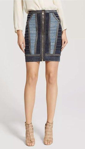 Brands,Apparel - Posh Girl Bandage Denim Skirt