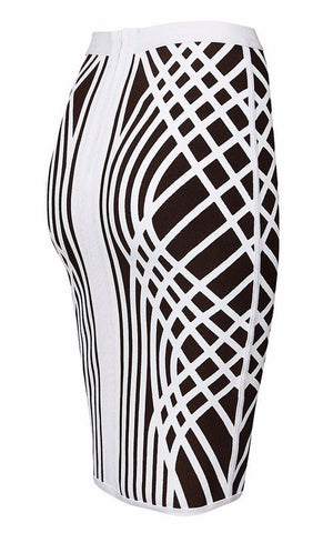 Brands,Apparel - Posh Girl Brown And White Bandage Skirt