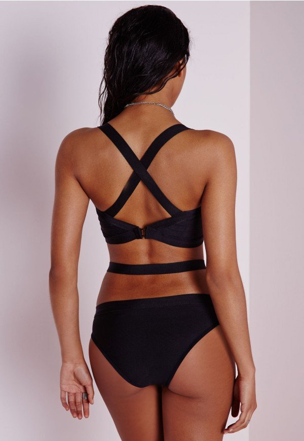 Brands,Apparel - Posh Girl  Teairra Bandage Cut-Out Swimsuit