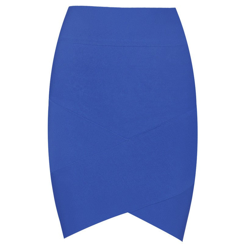 Posh Girl Bright Blue Grace Bandage Skirt-POSH GIRL-Posh Girl