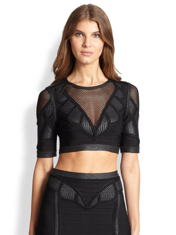 Brands,Collections,Apparel - Posh Girl Black Mesh Insert Bandage Skirt Set