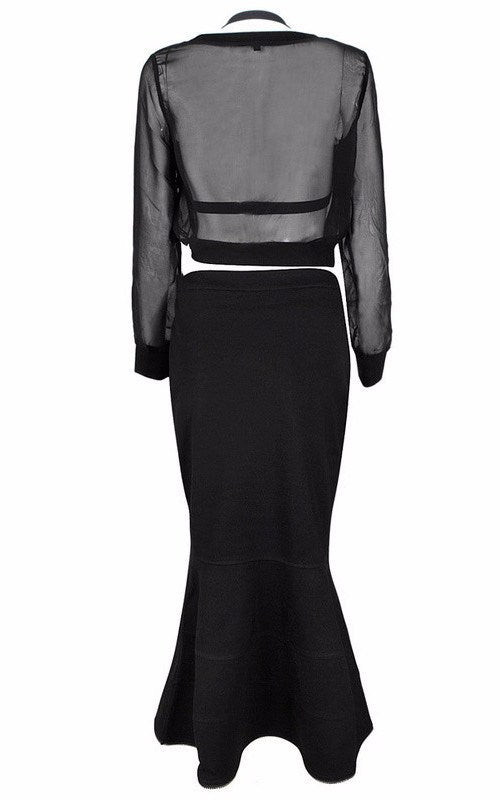 Brands,Collections,Apparel - Posh Girl  Black Paris Diva Bandage Skirt Set