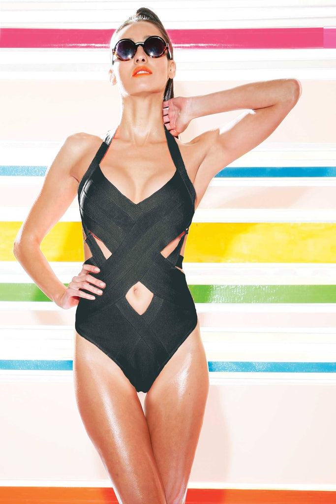 Brands,Collections,Apparel - Posh Girl Carnival Girl Bandage One Piece Swimsuit