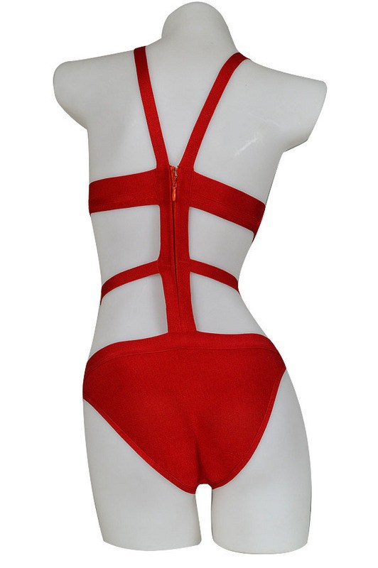 Grace Cutout Red Bandage Swimsuit for $1.18 at Posh Girl