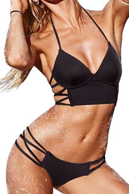 Brands,Collections,Apparel - Posh Girl  Peru Black Two Piece Swimsuit