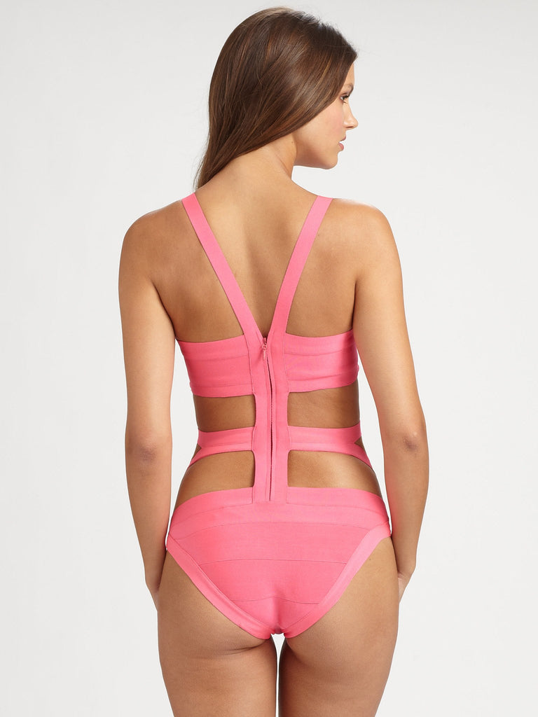 Pretty  In Pink Bandage One Piece Swimsuit for $1.18 at Posh Girl