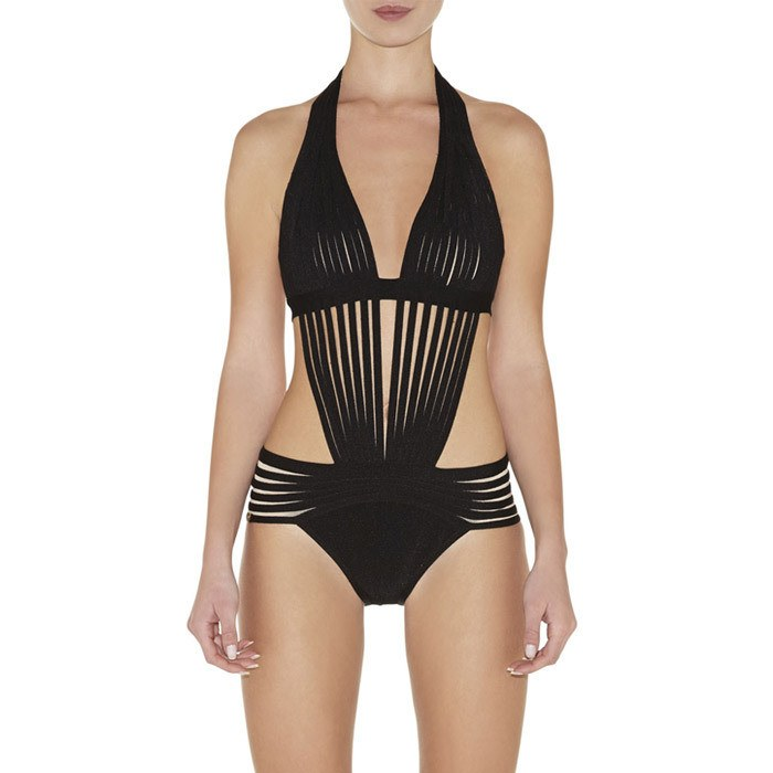 Brands,Collections,Apparel - POSH GIRL Sofia Black Bandage Swimsuit