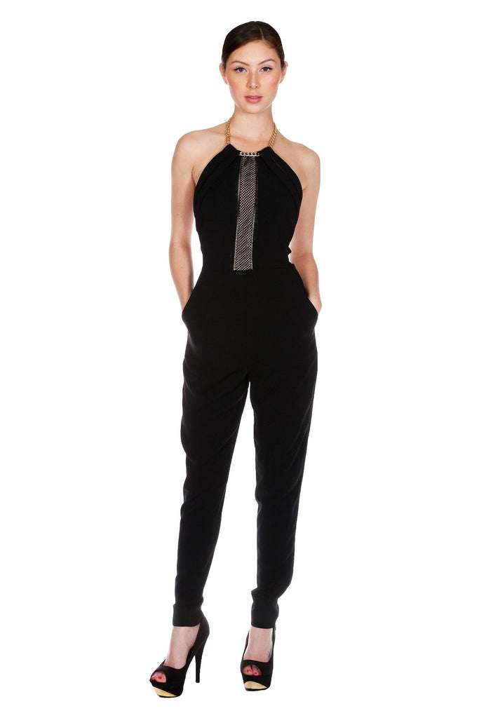 Brands,Collections,Apparel - Posh Girl  The Rocker Black Jumpsuit