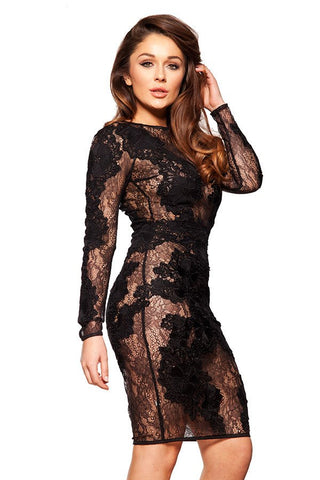 Lace Bodycon long Sleeve Dress for $1.78 at Posh Girl