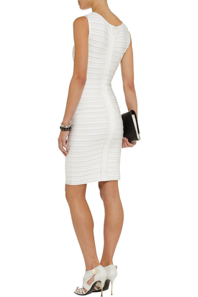 Brands,Collections,Dresses - Posh Girl White Chain Embellished Bandage Dress