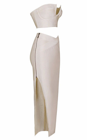 Brands,Dresses,Apparel - Posh Girl High Waist Bandage Maxi Skirt Set
