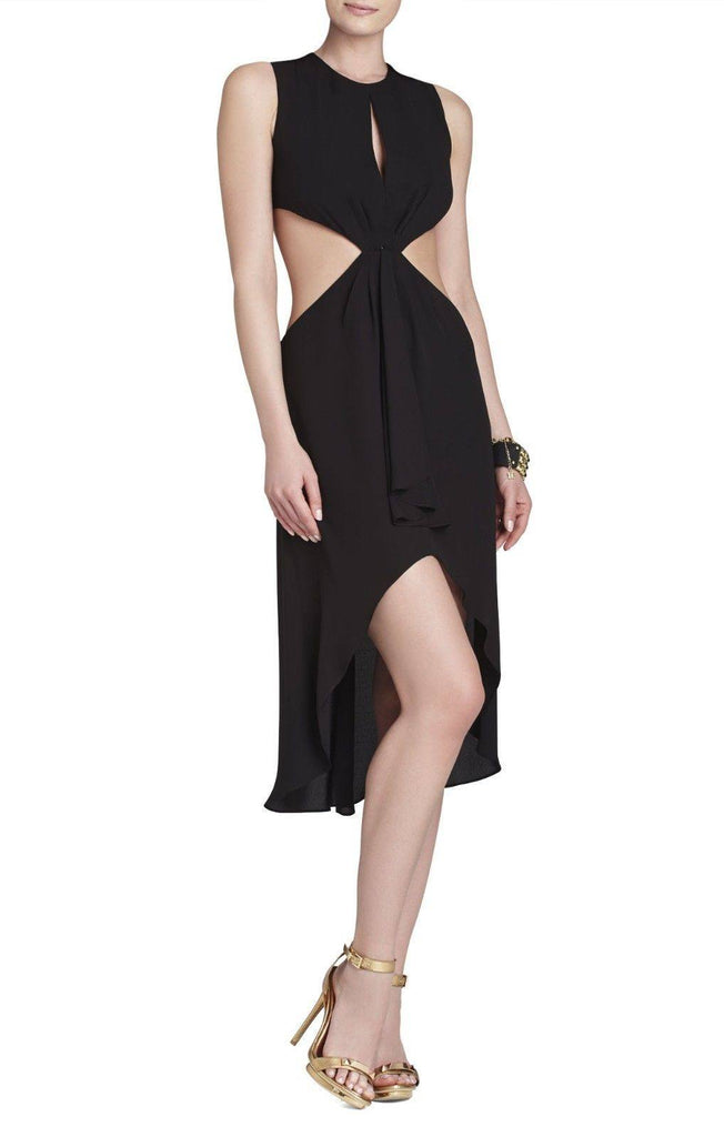 BCBG MAX AZRIA VICTORIA SLEEVELESS TIED DRESS SIDE CUTOUT for $1.88 at Posh Girl