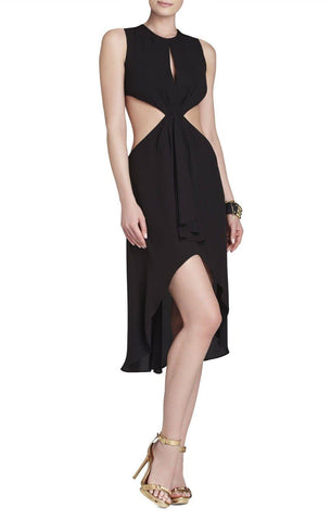 Brands,Dresses - BCBG MAX AZRIA VICTORIA SLEEVELESS TIED DRESS SIDE CUTOUT