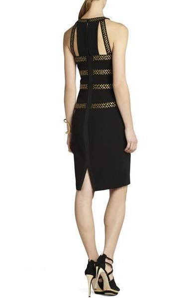 Brands,Dresses,Collections,Apparel - Posh Girl Chantal  Black Studded Bandage Dress