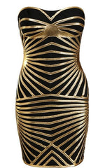 Black And Nude Foil Print Bandage Dress for $1.68 at Posh Girl