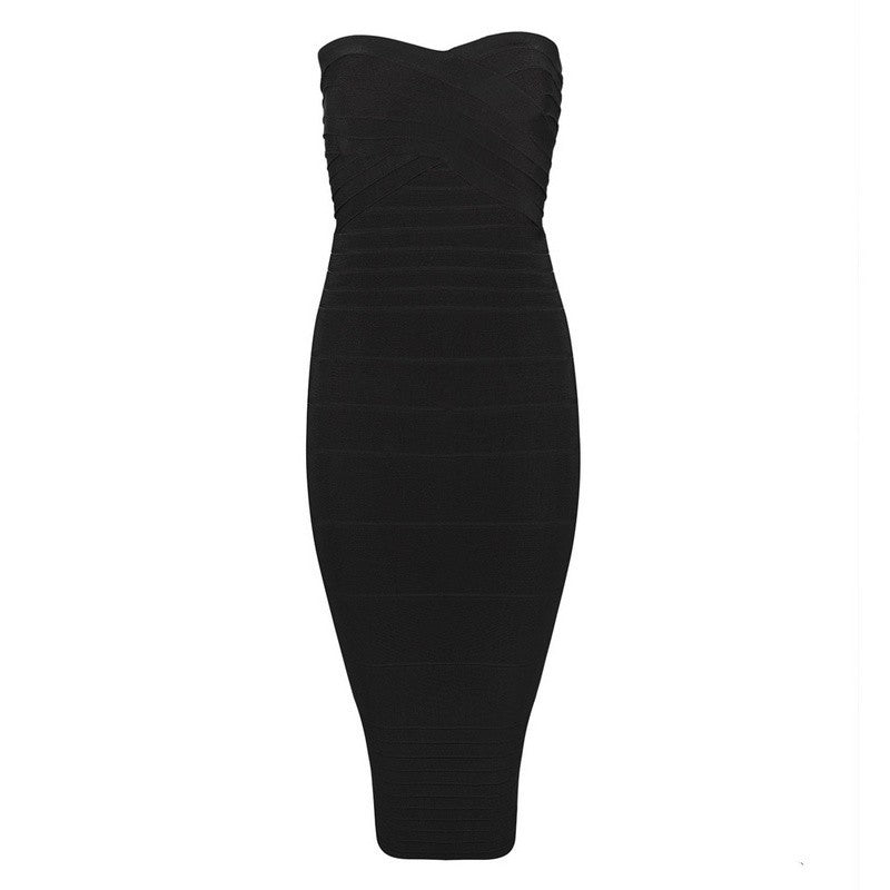 Brands,Dresses,Collections - Posh Girl Strapless Tank Style Bandage Dress