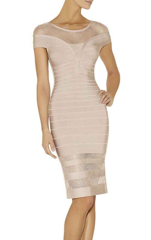 Kimora Mesh Bandage Dress-POSH GIRL-Posh Girl