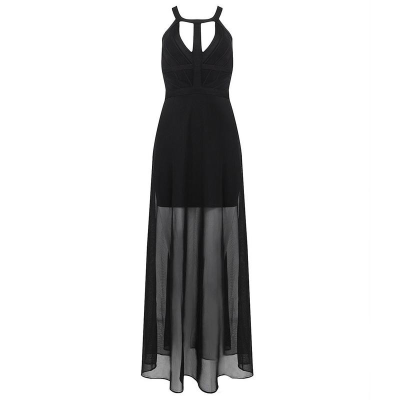 Black Chiffon & Bandage Maxi Dress for $1.88 at Posh Girl