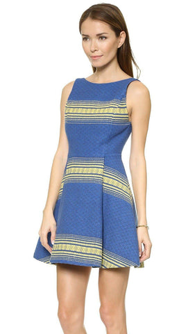 Alice Olivia Holis Structured Dress Double Pleat Stripe d Jacquard for $2.30 at Posh Girl