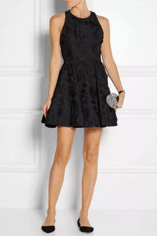 Brands,Dresses,New,Collections - Alice Olivia Tevin Angular Racer Back Party Lace Mini Dress