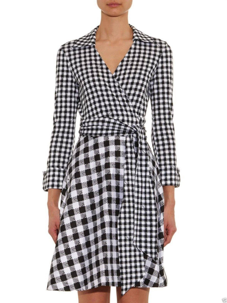 Brands,Dresses,New,Collections,Apparel - Diane Von Furstenberg Amelianna Flared Silk Combo Wrap Dress