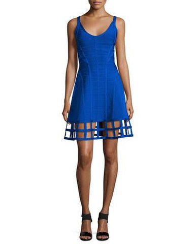 Brands,Dresses,New,Collections,Apparel - Posh Girl Fit And Flair Cut-Out Bandage Dress