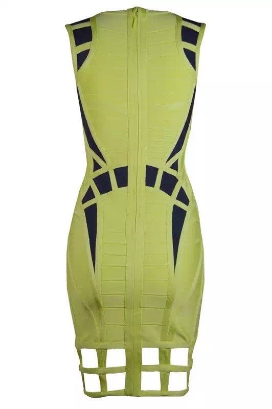 Brands,Dresses,New,Collections,Apparel - Posh Girl Kasandra Cut-Out Bandage Dress