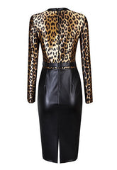 Leopard Print Vegan Leather Dress for $1.58 at Posh Girl