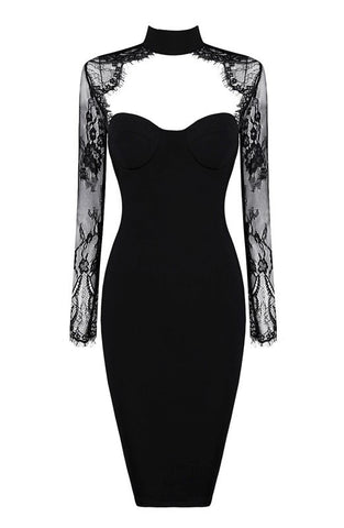 Roslyn  Black Lace And Bandage Dress for $1.68 at Posh Girl